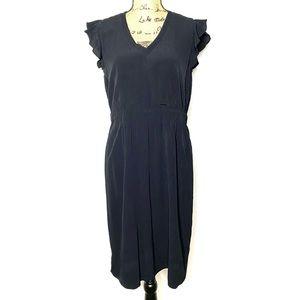 Kate Spade Black Short Sleeve Ruffle Dress